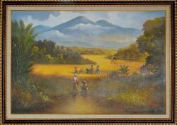 Lukisan Pemandangan Uk. 140 x 90 cm