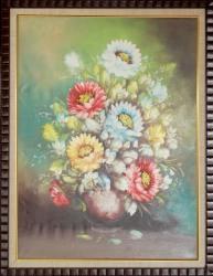 Lukisan Bunga  Uk 67 x 87 cm