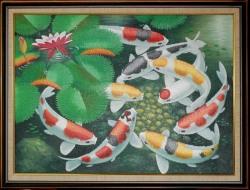 Lukisa Koi Uk. 145 x 95 cm