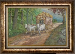 Lukisan Gerobak  Uk. 87 x 67 cm