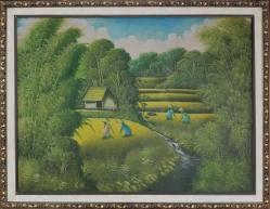 Lukisan Pemandangan         Uk 88 x 68 cm