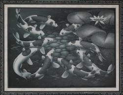 Lukisan Koi, pigura lukisan - 0857.3133.6051 - http://jualpigurasurabaya.wordpress.com/