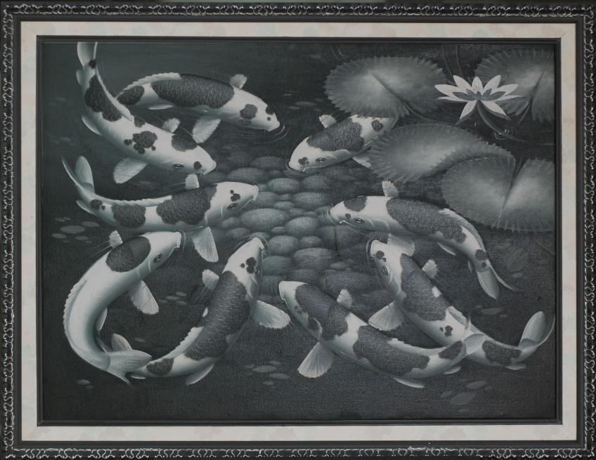 Lukisan Koi, pigura lukisan - 0857.3133.6051 - https://jualpigurasurabaya.wordpress.com/